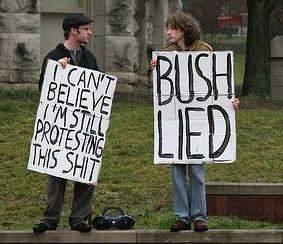 antiwar protest signs