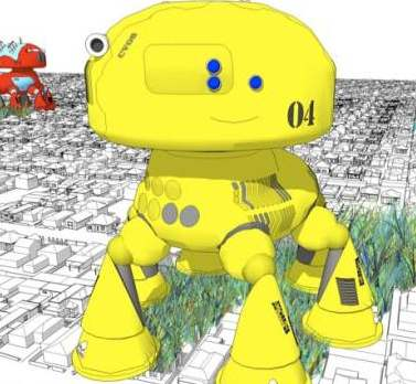 CV08. Suburb eating robot