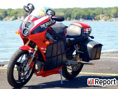 solar powered motorcycle