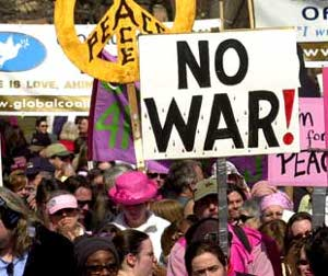 antiwar protest