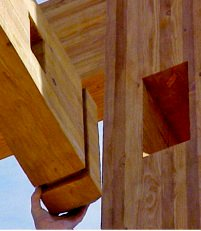 """""""Each white pine log is specially cut in the factory to ensure an air-tight fit."""""""