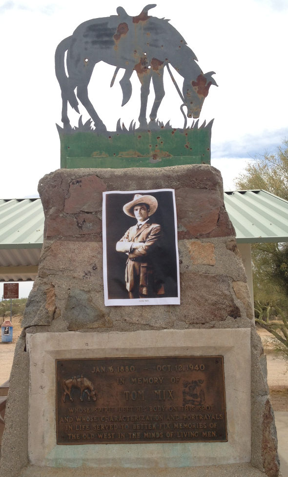 Tom Mix monument. Hwy 97 between Tucson and Phoenix