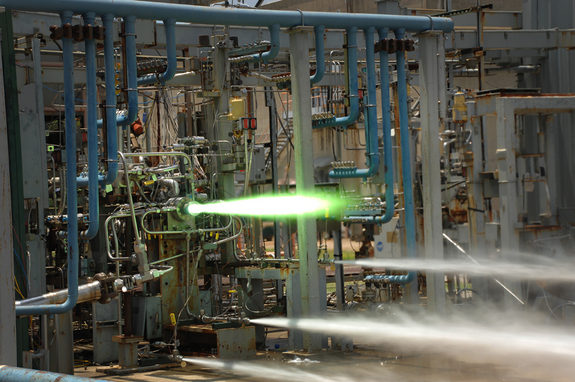Rocket injector test. NASA