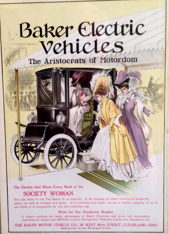 Baker Electric Vehicles advertisement