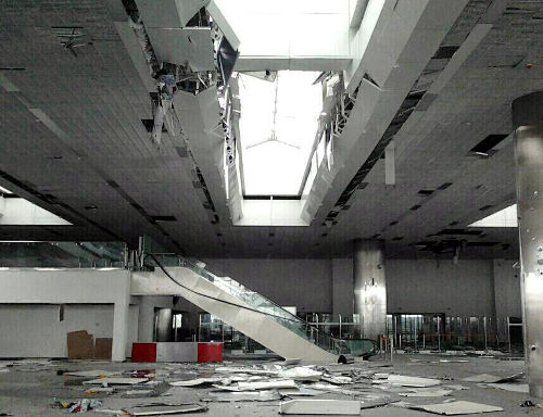 Destroyed Donetsk airport