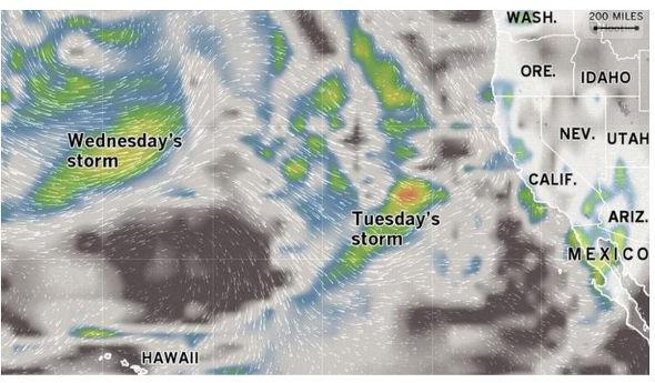 El Nino storms in Pacific