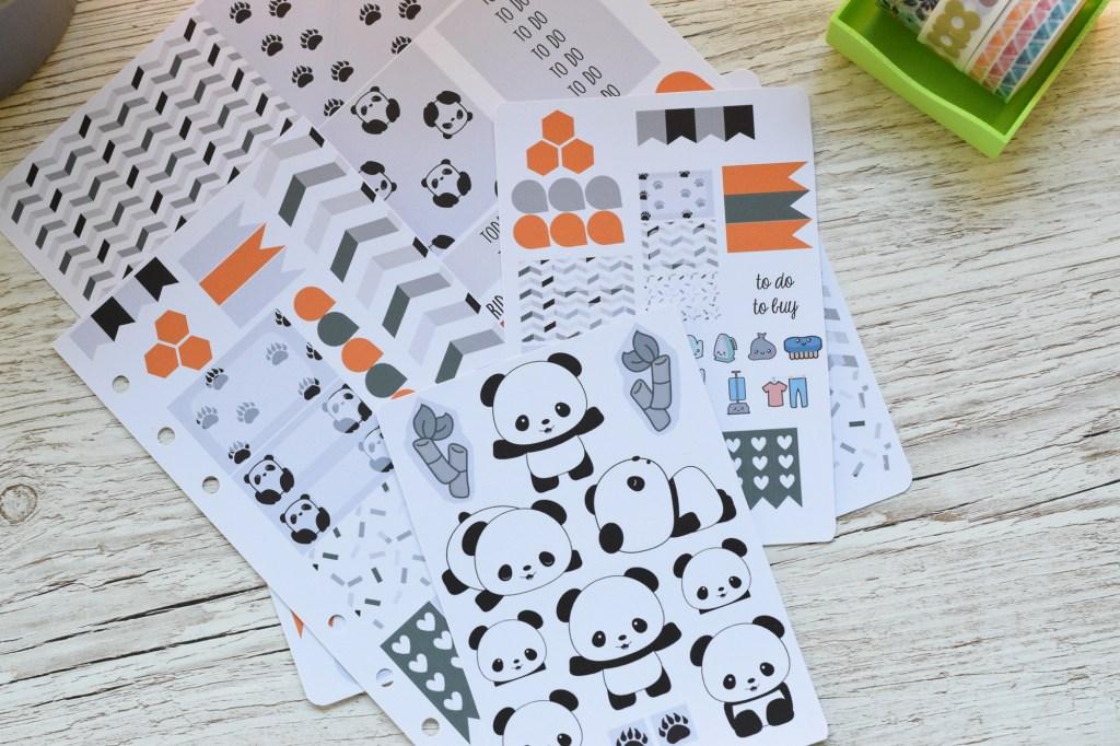 panda planner stickers