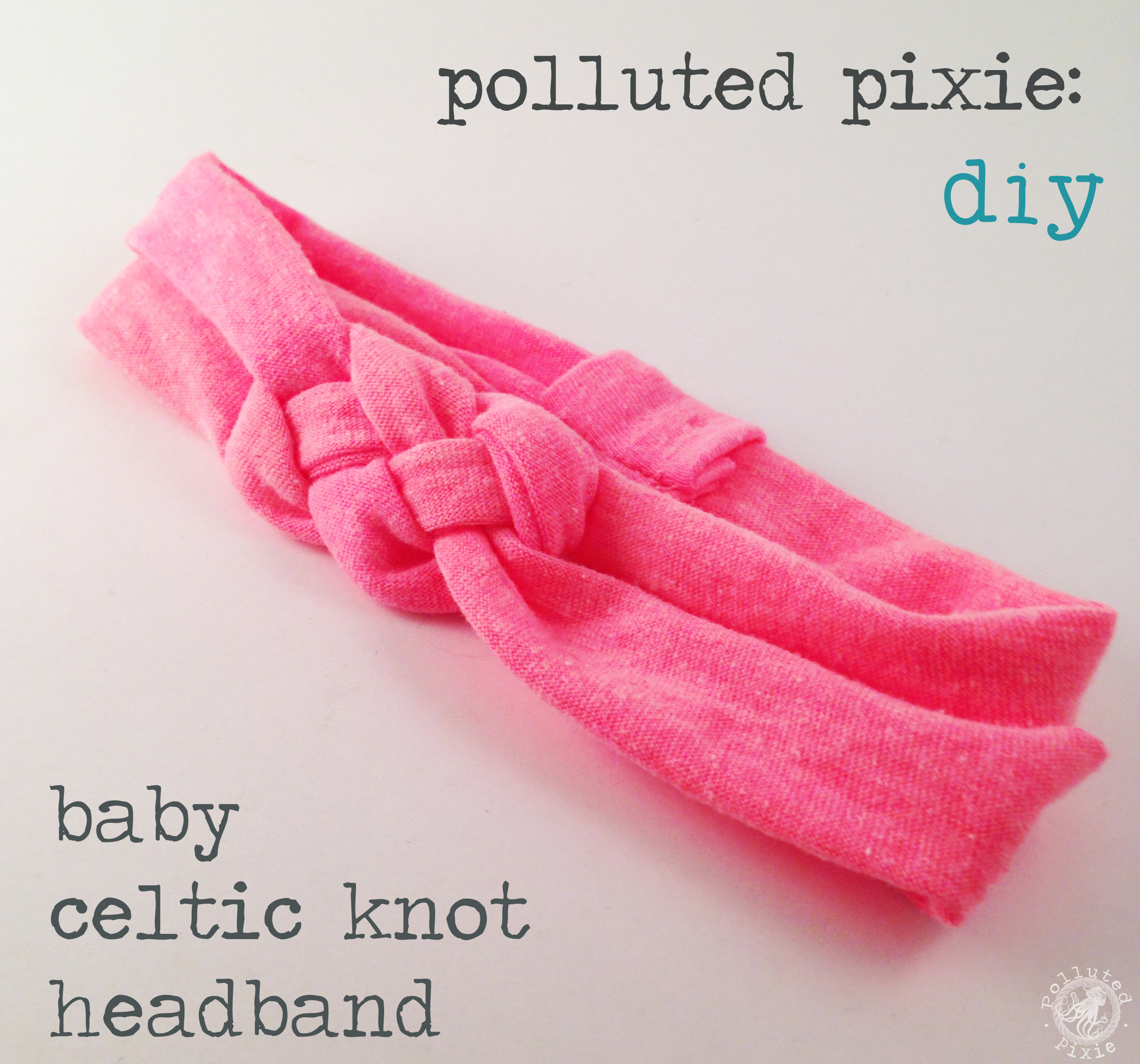 diy: baby celtic knot headband