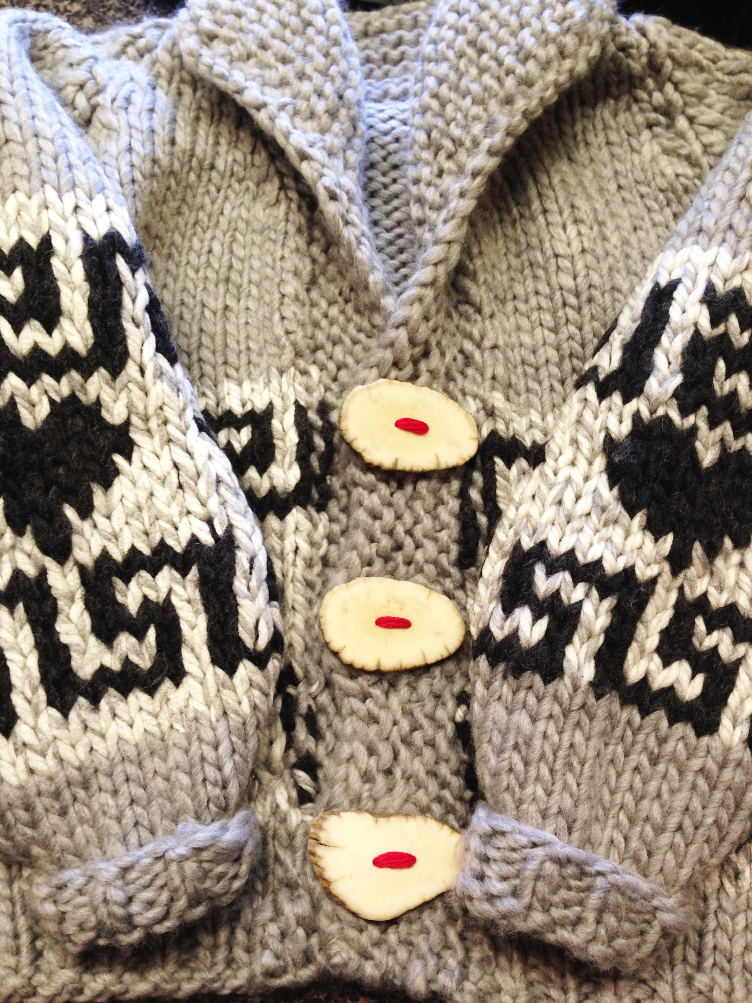 knitting a baby cowichan sweater: a love/hate affair