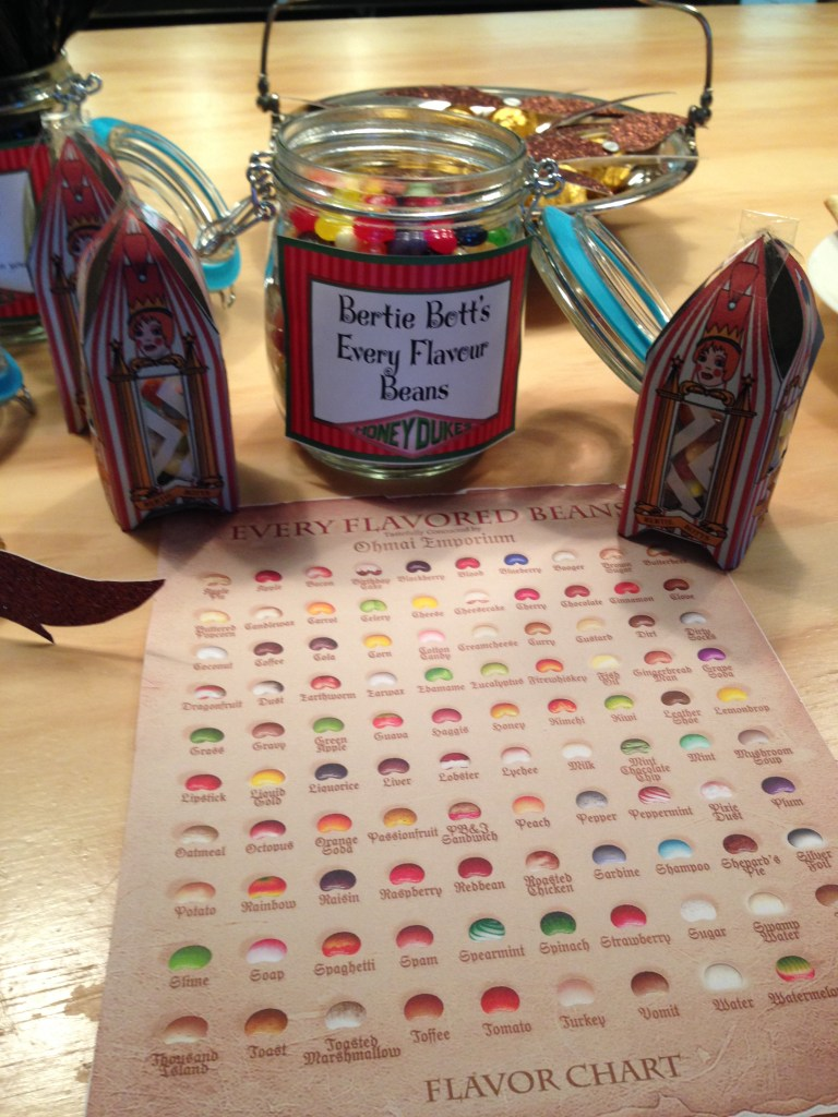 Bertie Bott's every flavour bean, DIY, Harry Potter Party, Hogwarts Party, Harry Potter Candy