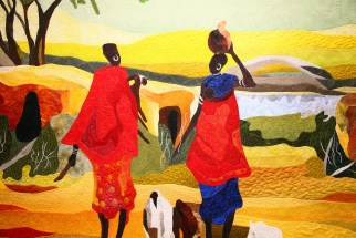 Pictorial Quilts African Village