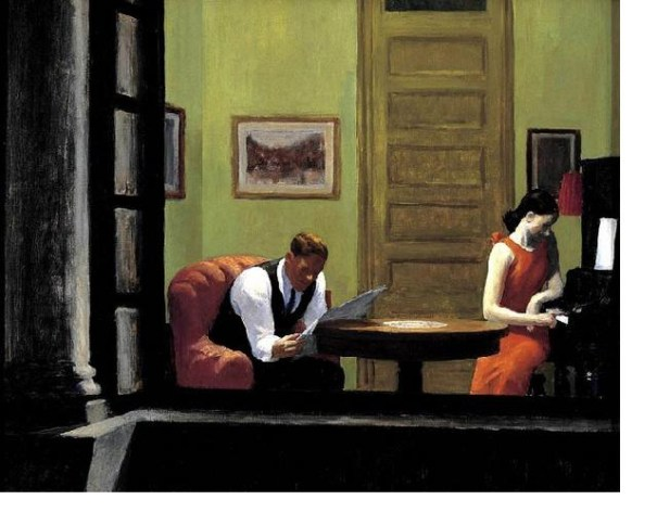 Edward Hopper, Room in New York, 1932, oil on canvas