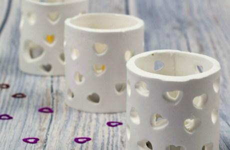 Tutorial: Heart Cutout Tea Light Holders