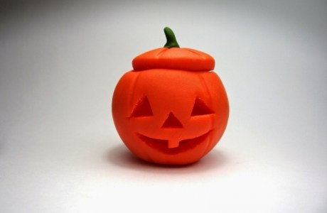 Carving Polymer Clay Pumpkins