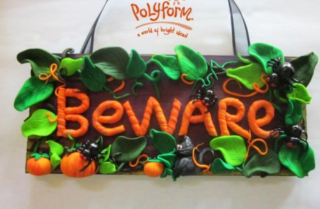 Halloween Signs from Clay