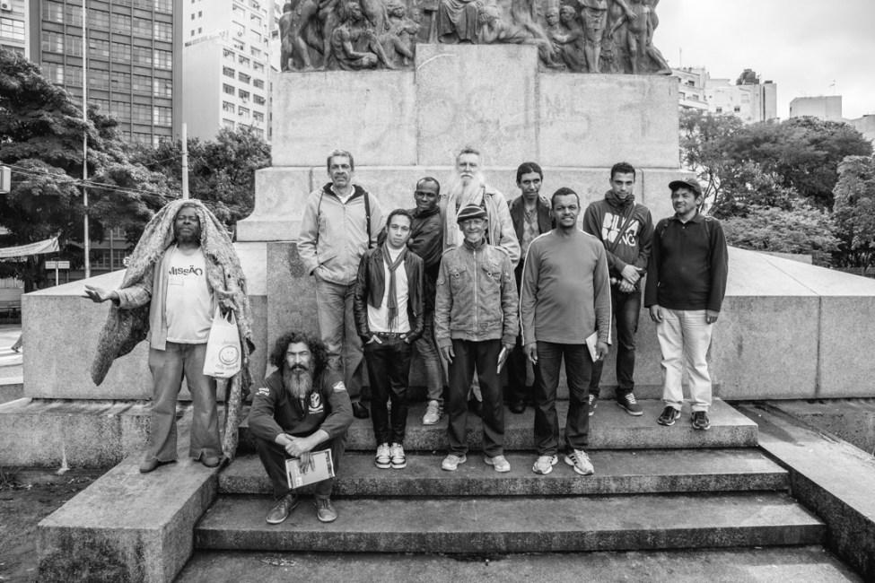 Os pesquisadores sociais da Pesquisa Pop Rua. Foto: Caio Palazzo