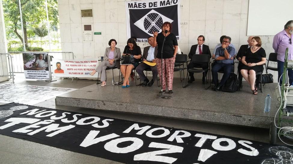 """Na Câmara Municipal de SP, Débora denuncia """"criminalização"""" das Mães de Maio"""