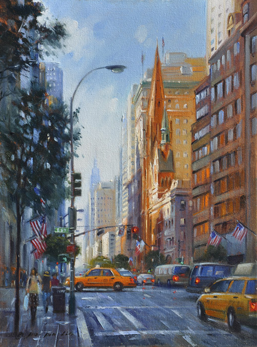 A Day On 5th Ave (New York), 16x12