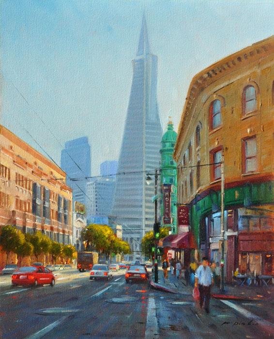The Skyline of SF (The Transamerica Pyramid), 20x16