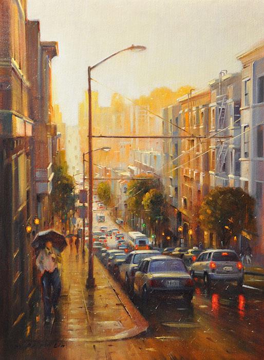 Walking the Street of SF, 24x18