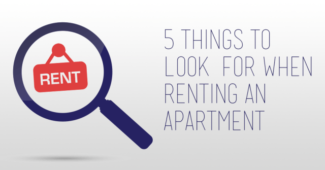 5 things to look for when renting an apartment