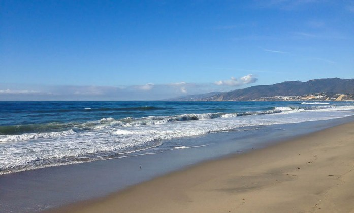 Christmastime in California Santa Monica Beach