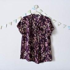 Travel Capsule Wardrobe Purple Floral Blouse