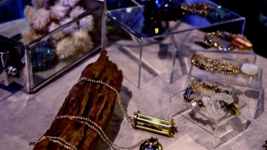 Beautiful quartz accessories that bring to mind celestial bodies by the talented By Invite Only