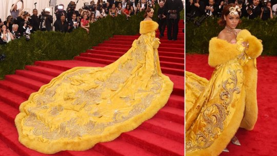 Rihanna at Met Gala 2015. Photo: Hollywood Reporter