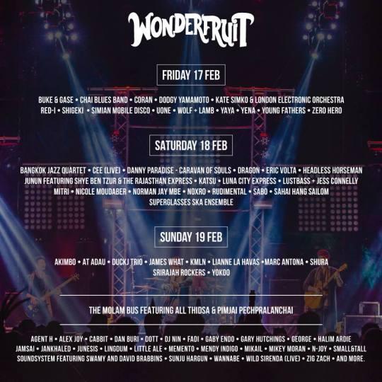 Line-up for Wonderfruit 2017