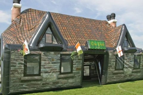 Inflatable pop up pub