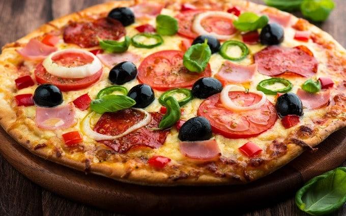 recetas de pizza mediterranea