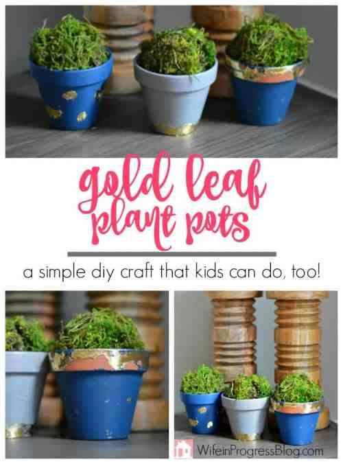 DIY Crafts: Gold Leaf Terracotta Plant Pots - a fun DIY craft for the whole family!