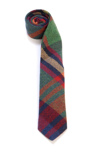 Troglodyte Homunculus Tartan Wool Tie