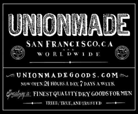 Now Open: UNIONMADE Online Shop