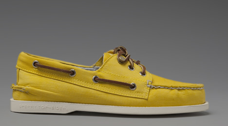 Sperry for Band of Outsiders Yellow Nylon Boat Shoes