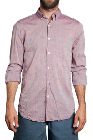 Steven Alan Single Needle Ikat Shirt