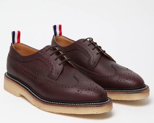 The Want | Thom Browne Scotch Grain Wingtip Brogue