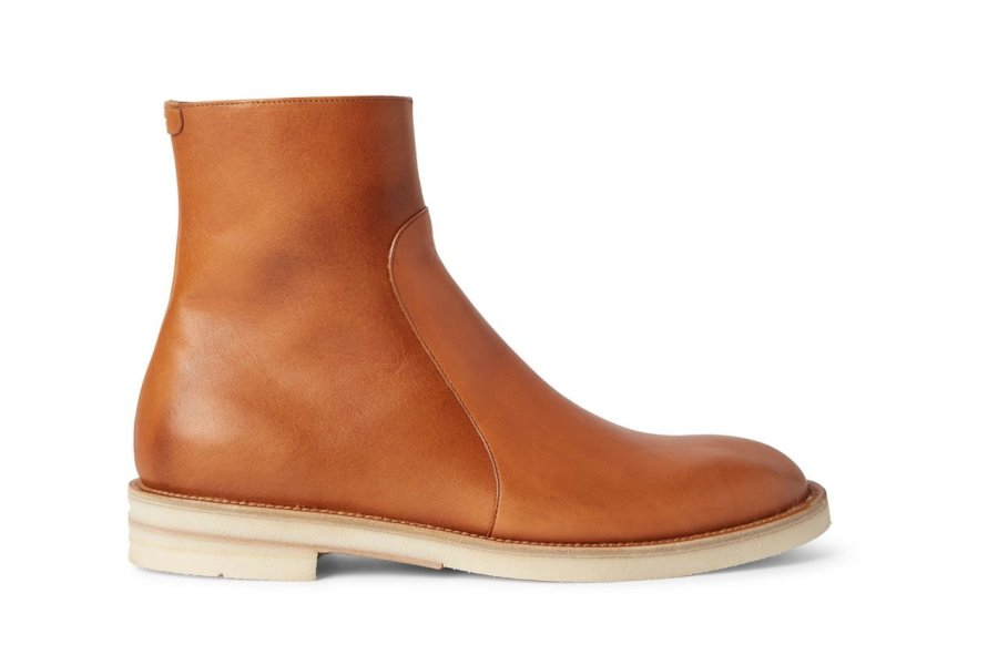 Maison Margiela Brushed-Leather Chelsea Boot-01