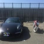 ポルシェとバイク