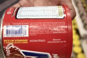Achocolatado: o primeiro ingrediente é açúcar