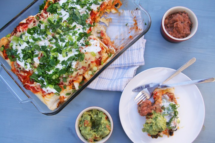 Chicken, Black Bean and Butternut Enchiladas with Applewood Smoked Cheddar 1