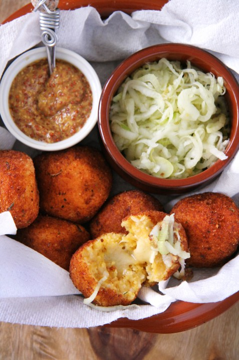 Squash Arancini with Apple-Fennel Slaw & Stone Ground Mustard