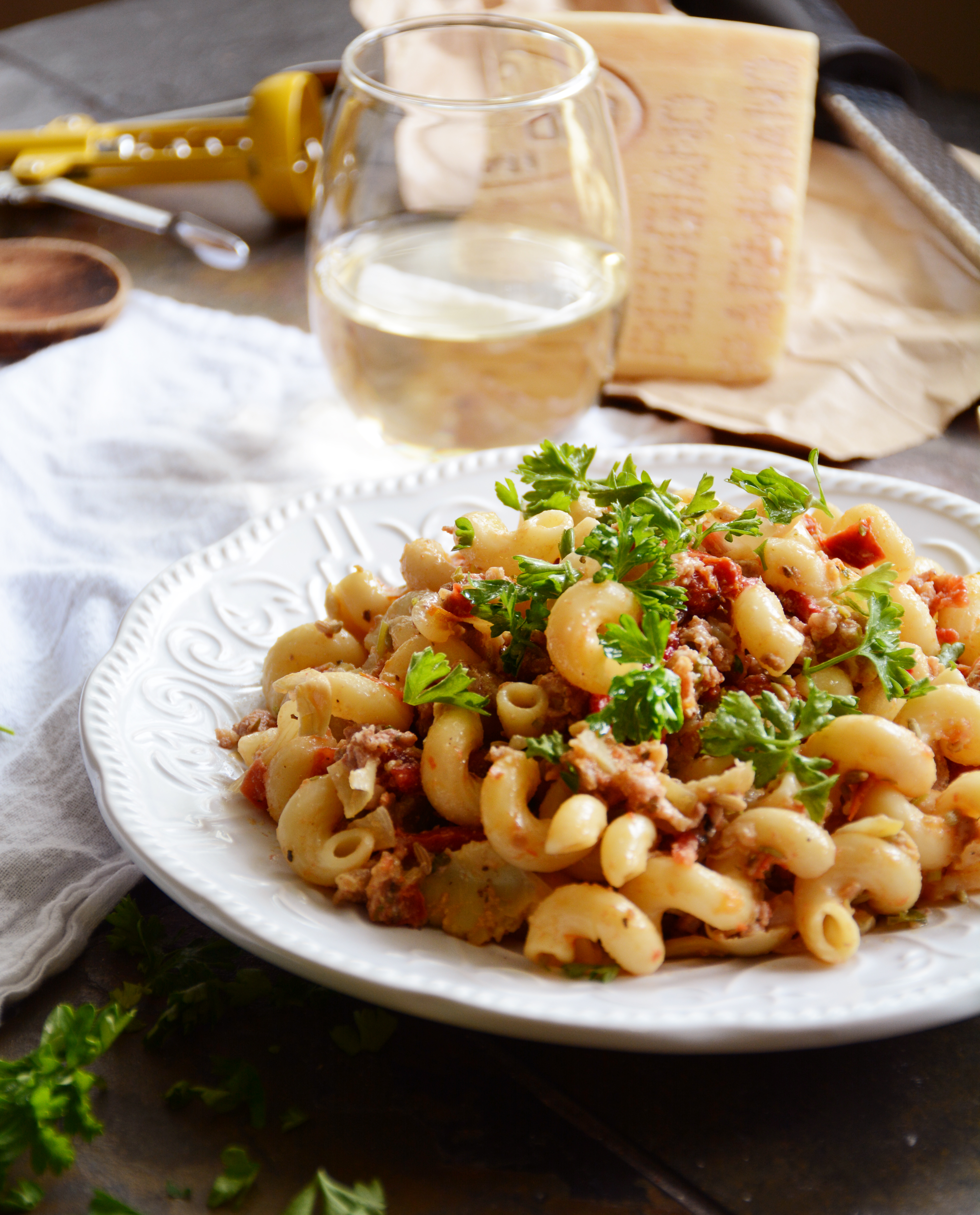 Weeknight Pantry Pasta with Crumbled Sausage, Sundried ...