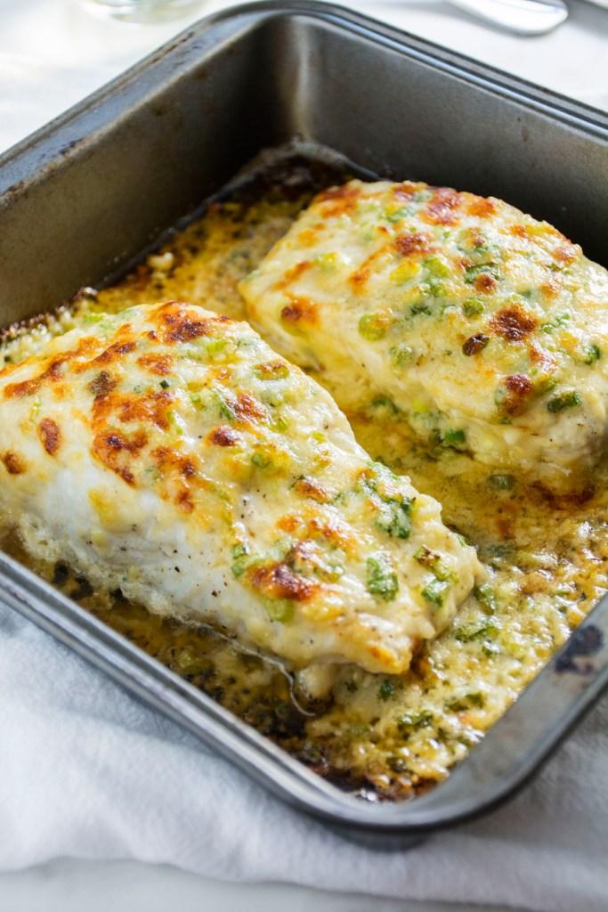 Garlic Parmesan Halibut