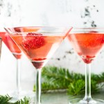 Raspberry Elderflower Martini