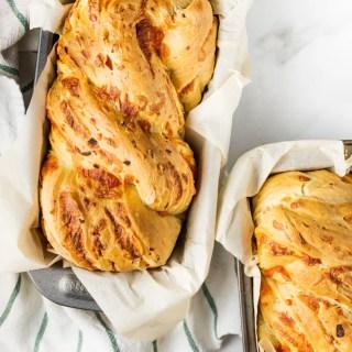 Caramelized Onion & Cheddar Bread