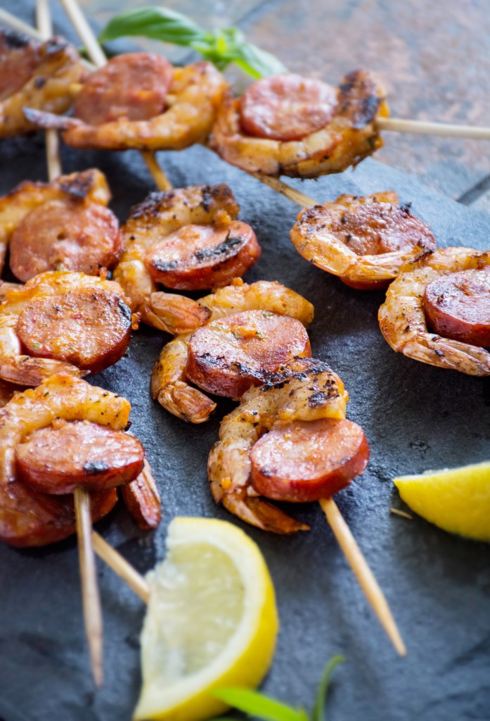 Shrimp & Chorizo Skewers