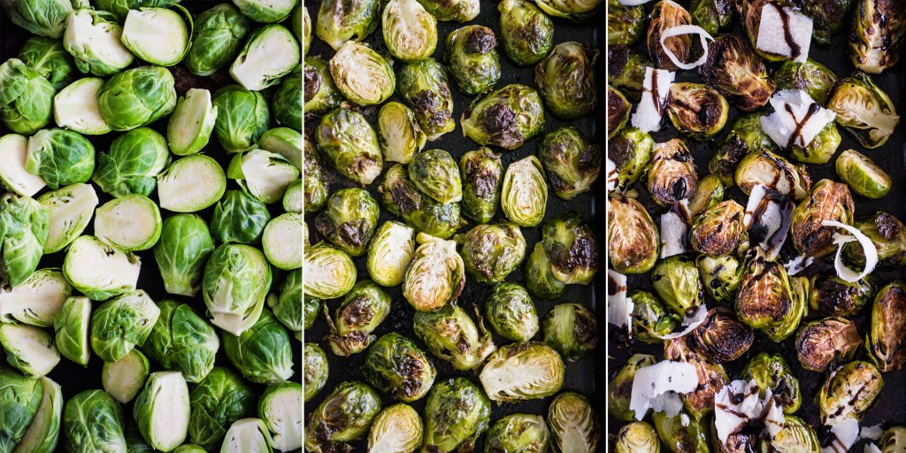 Roasted Brussels Sprouts with Parmesan & Balsamic