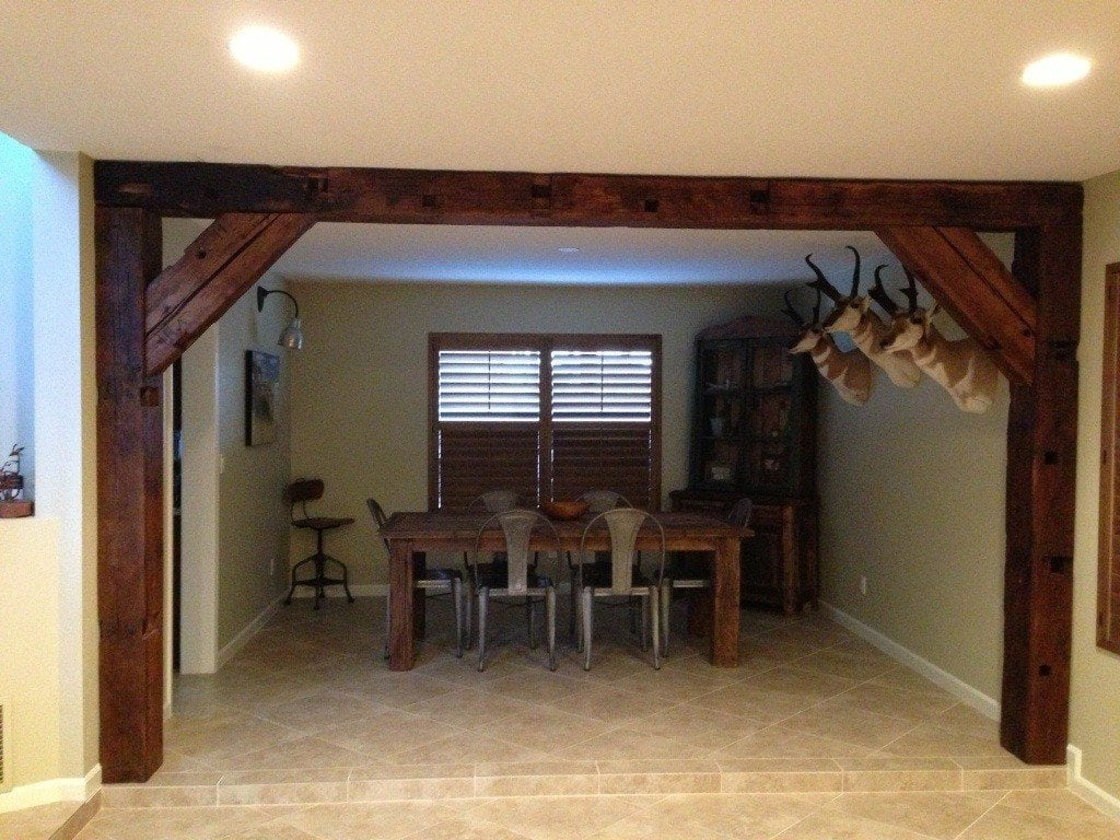 Reclaimed barn wood beams porter reclaimed barn wood for Salvaged timber beams